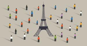Parceria global do acordo do clima do acordo de Paris dos muitos país Foto de Stock Royalty Free