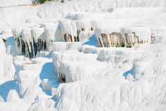 Parched basins of Pamukkale Stock Photo