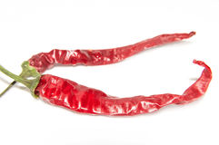 Parched Chilli peppers. Red chilli peppers parched/spicy Stock Photos