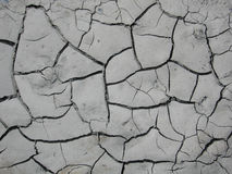 Parched Earth. A cracked landscape of dried mud in late July stock photos
