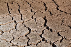 Parched land. Dry river on drought parched ground Royalty Free Stock Photography