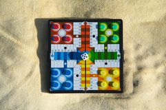 Parcheesi top view Royalty Free Stock Photos
