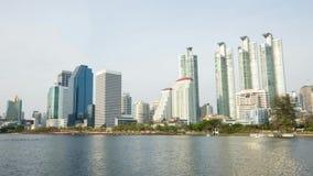 Parcheggi, all'aperto, il thailandconstruconstruction, il lasso di tempo, il businessction, il lasso di tempo, città video d archivio