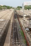 Parcheggi la stazione ferroviaria, Chennai, India 12 agosto 2017: Una parte famosa del punto di riferimento della stazione del pa Immagini Stock Libere da Diritti