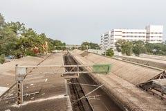 Parcheggi la stazione ferroviaria, Chennai, India 12 agosto 2017: Una parte famosa del punto di riferimento della stazione del pa Immagine Stock Libera da Diritti