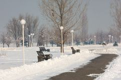 parcheggi primo prizident Sosta di inverno immagine stock libera da diritti