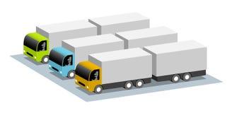 Parcheggiando per i camion Fotografia Stock
