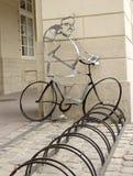 Parcheggiando per le bici Immagine Stock Libera da Diritti