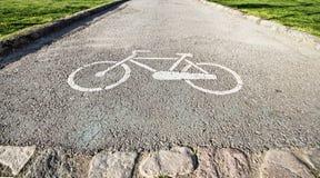 Parcheggiando per le biciclette Immagine Stock Libera da Diritti