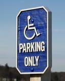 Parcheggio andicappato soltanto immagine stock