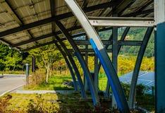 Parcheggio coperto del pannello solare Fotografia Stock