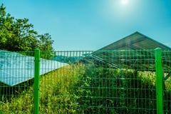 Parcheggio coperto del pannello solare Fotografie Stock