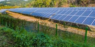Parcheggio coperto del pannello solare Immagini Stock Libere da Diritti