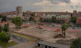 Parcheggio in costruzione Fotografia Stock Libera da Diritti