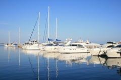 Parcheggio degli yacht Fotografia Stock