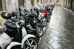 Parcheggio dei motorini Immagine Stock Libera da Diritti