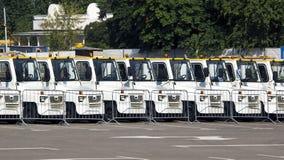 Parcheggio dei veicoli di servizio Fotografia Stock Libera da Diritti