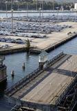 Parcheggio del porto Fotografie Stock Libere da Diritti