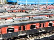 Parcheggio del treno di CPTM fotografia stock