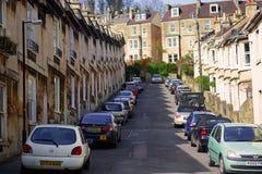 Parcheggio dell'automobile lungo la diramazione Fotografia Stock