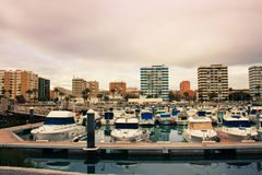 Parcheggio dell'yacht sulla spiaggia Immagine Stock Libera da Diritti