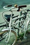 Parcheggio della bici Immagine Stock