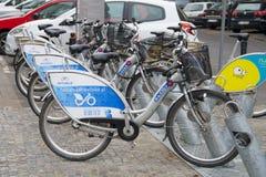 Parcheggio della bicicletta Immagini Stock Libere da Diritti