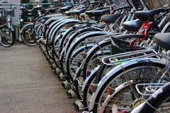 Parcheggio della bicicletta Immagine Stock Libera da Diritti