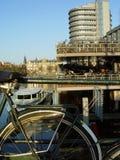 Parcheggio della bicicletta Immagine Stock