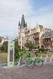 Parcheggio della bicicletta a Batumi Fotografie Stock Libere da Diritti