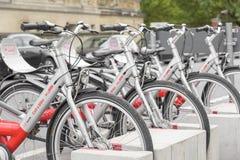 Parcheggio della bicicletta a Berlino Fotografia Stock