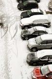 Parcheggio della neve Immagini Stock