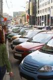 Parcheggio della via Immagini Stock Libere da Diritti