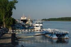 Parcheggio delle barche di Galati Immagine Stock