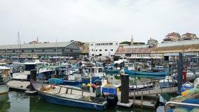 Parcheggio delle barche in porto di Giaffa, Tel Aviv, Israele immagine stock libera da diritti