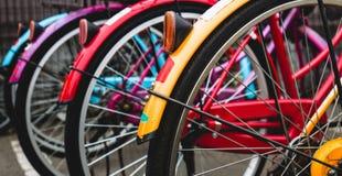 Parcheggio delle biciclette Fotografia Stock