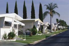 Parcheggio di case mobili Immagini Stock