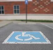 Parcheggio di handicap immagine stock libera da diritti