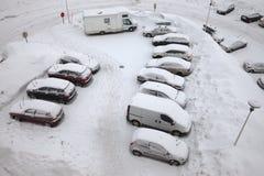 Parcheggio di inverno Immagine Stock Libera da Diritti