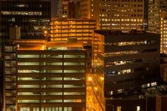 Parcheggio di notte Immagine Stock Libera da Diritti