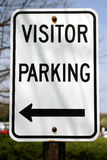 Parcheggio di Vistors Fotografia Stock Libera da Diritti