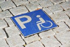 Parcheggio disabile Immagine Stock