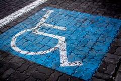 Parcheggio disabile Fotografia Stock