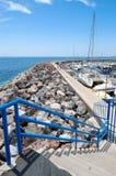 Parcheggio ed Oceano Atlantico degli yacht della vela Fotografie Stock
