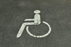 Parcheggio handicappato Fotografie Stock Libere da Diritti