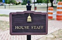 Parcheggio legislativo del personale della casa del corridoio del Delaware Fotografie Stock Libere da Diritti