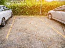 Parcheggio libero con lo spazio della copia Immagine Stock