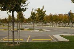 Parcheggio nel parco del ther con immagine stock libera da diritti