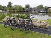 Parcheggio originale nei Paesi Bassi fotografia stock