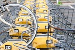 Parcheggio pagato della bicicletta Fotografie Stock Libere da Diritti
